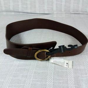 Banana Republic Asymmetrical Leather Belt Medium